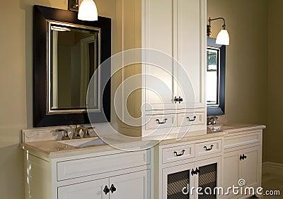 Modern home interior bathroom