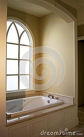 Modern home interior bathroom bath tub