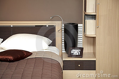 Modern home interior bedroom