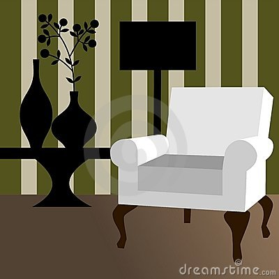 Modern home interior, vector illustration
