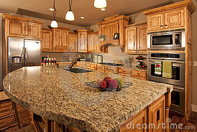 Modern Home Kitchen with Center Island
