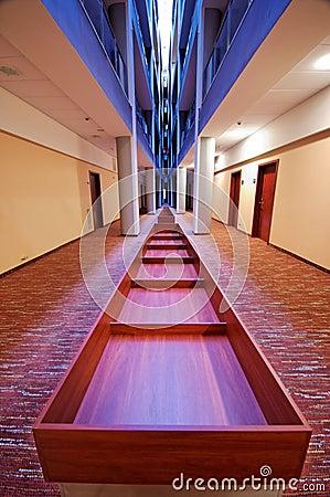 Modern hotel corridor