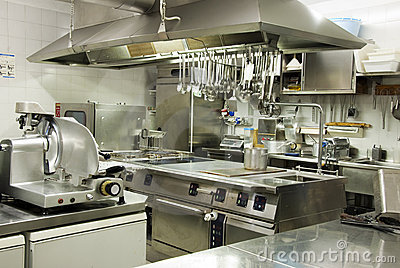 Modern hotel kitchen royalty free stock image image for Elementos de cocina para chef