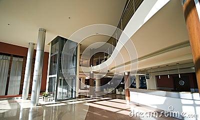 Modern Hotel Lobby modern hotel interior. interesting bed lighting and art in modern