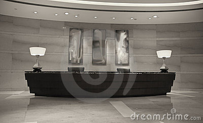 Modern Hotel Reception Desk Stock Images Image 24172864