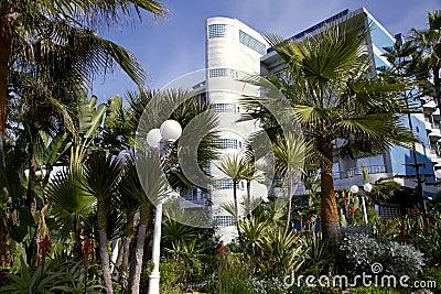 Modern hotel with a wonderful garden in Casablanca