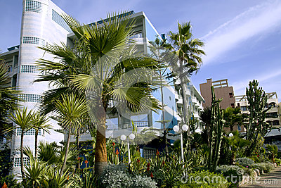 Modern hotel with a wonderful garden in Casablanca