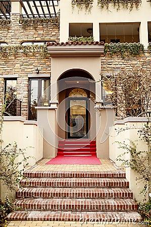 Modern house entrance