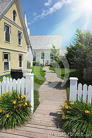 Modern house and garden