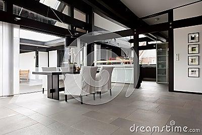 Modern house, living-room