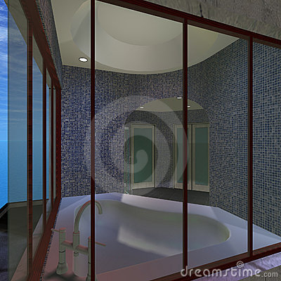 Modern House - Master Bathroom