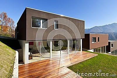 Modern house, patio