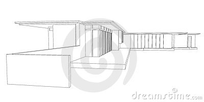 Tremendous Modern House Perspective Drawing Royalty Free Stock Images Image Inspirational Interior Design Netriciaus