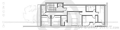 Modern house second floor plan