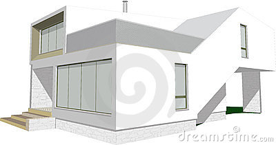 Modern house sketch vector