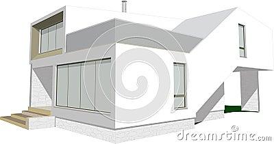 Modern house sketch vector
