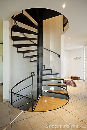 modern-house-spiral-staircase- ...