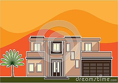 Modern house stock vector image 41546035 for Modern house clipart