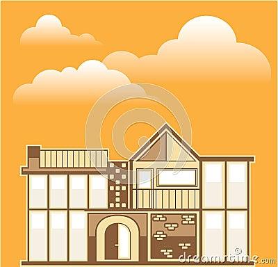 Modern house vector simplistic for Modern house clipart
