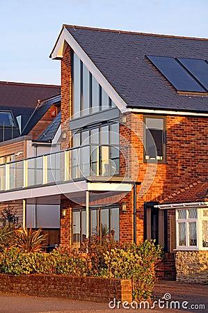 Modern Housing Solar Panels Stock Photo Image 52641969
