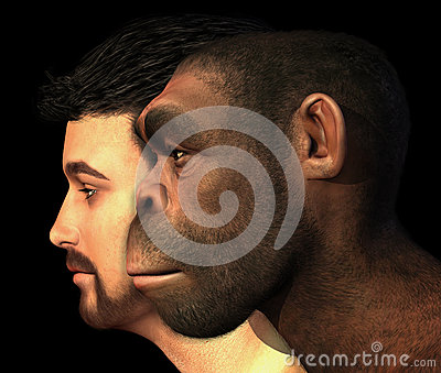 Modern Human and Erectus Man Compared