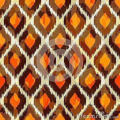 Modern ikat tribal seamless pattern for web or hom