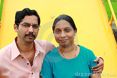Modern Indian couple posing