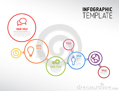 Infographic Ideas infographic lines : Modern Infographic Report Template Made From Lines And Circles ...