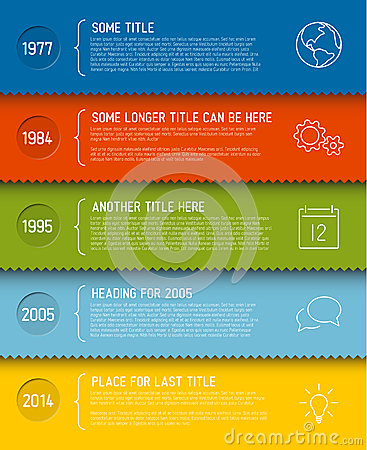 Free Modern Infographic Timeline Report Template Stock Image - 41845201