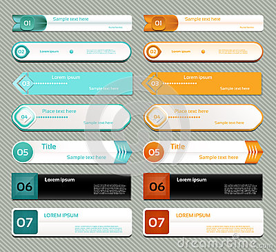 Free Modern Infographics Options Banner. Vector Illustration. Can Be Used For Workflow Layout, Diagram, Number Options, Web Design, Pri Stock Photography - 37980222