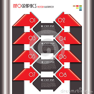 Modern Infographics template for business design with numbers.
