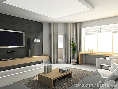 Living room interior design modern style living room interior design idea - Woonkamer deco ...