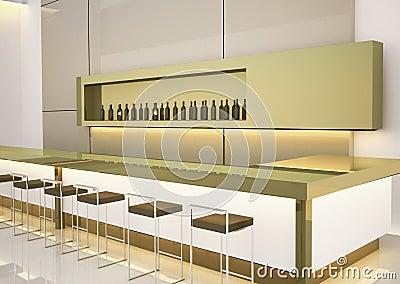 Modern interior bar