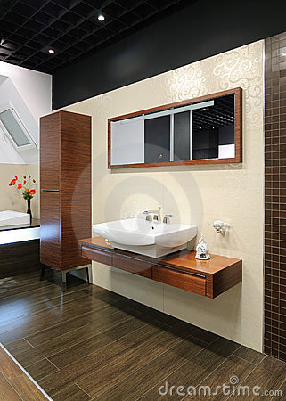 Modern interior.Bathroom