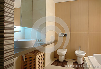 Modern interior Bathroom