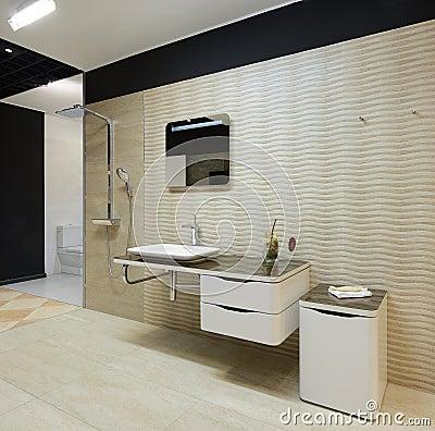 Modern interior. Bathroom