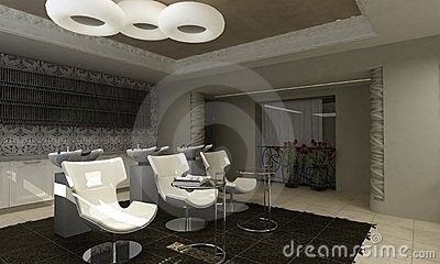 Modern interior design beauty salon