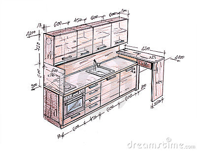 ... How To How To Draw Kitchen Cabinets : Modern Interior Design Freehand  Drawing. Part 46