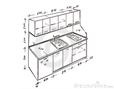 Royalty Free Stock Images Modern Interior Design Kitchen Freehand Drawing Image13298949 on modern house design