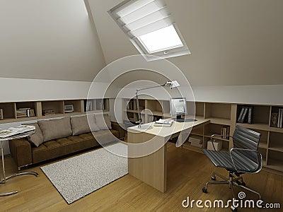 Modern interior design (privat apartment 3d render
