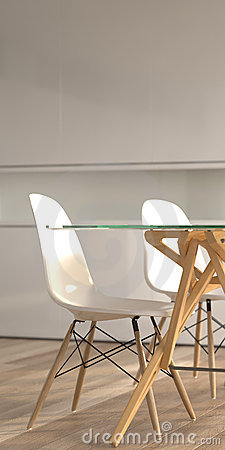 Free Modern Interior Detail With Chairs And Table Royalty Free Stock Image - 7925966