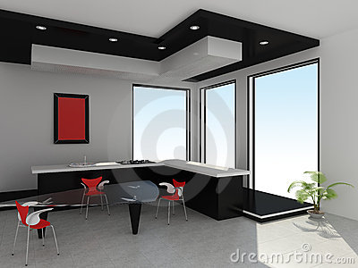 Modern interior of kitchen