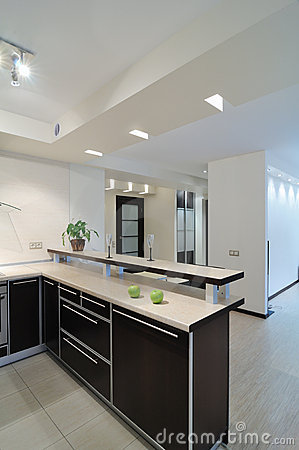 Modern interior.Kitchen