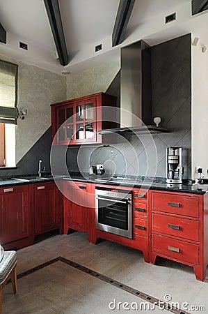 Modern interior.Kitchen