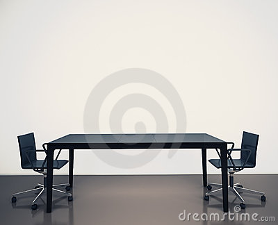 Modern interior office Stock Photo