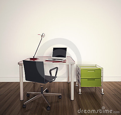 Free Modern Interior Office Royalty Free Stock Image - 23351026