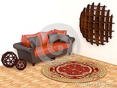 Modern Interior with Original Shelf