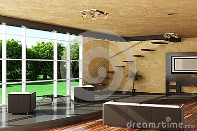 Modern interior of a room.