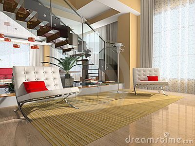 Modern interior of the room