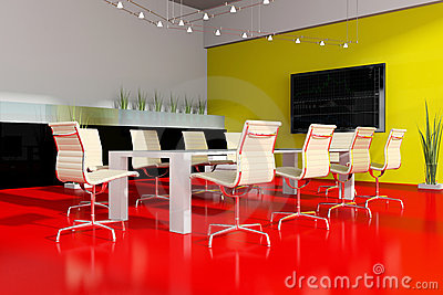 Modern  interior room for meetings